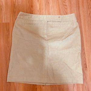 New York and company corduroy tan skirt